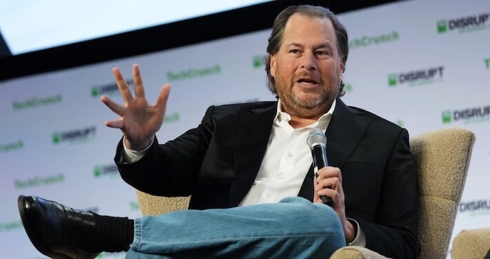 Marc Benioff and this panel of judges will decide who gets one seat on the first all-civilian spaceflight
