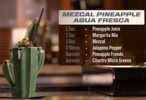 Mezcal Pineapple Agua Fresca Drink Recipe